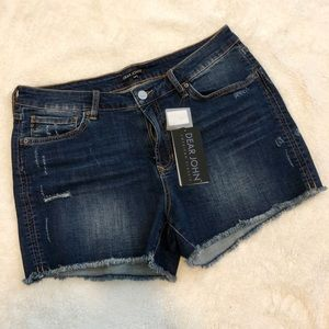 Dear John Jean Shorts with Frayed Hem